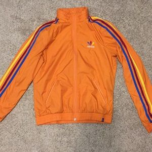 Orange Adidas zip up